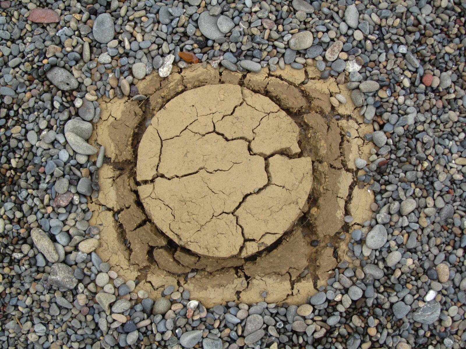 micro-soilism - 2011 - soil; PVA; stone; sunlight