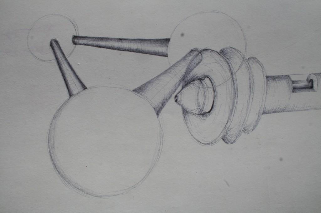 double vision - 2010 - pen on paper