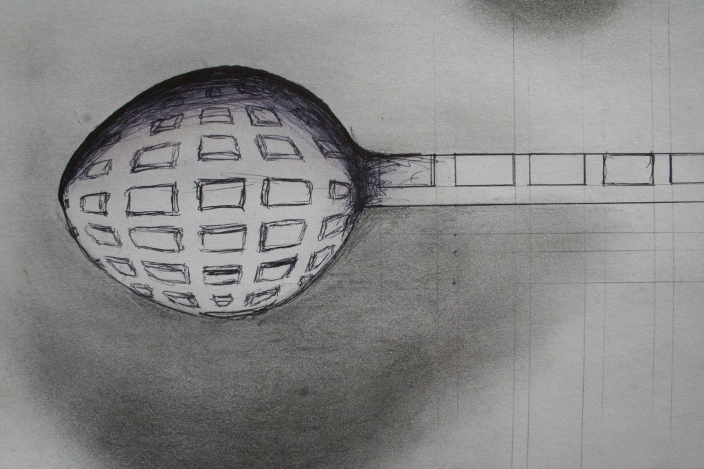eye of the spoon - 2011 - pen and pencil