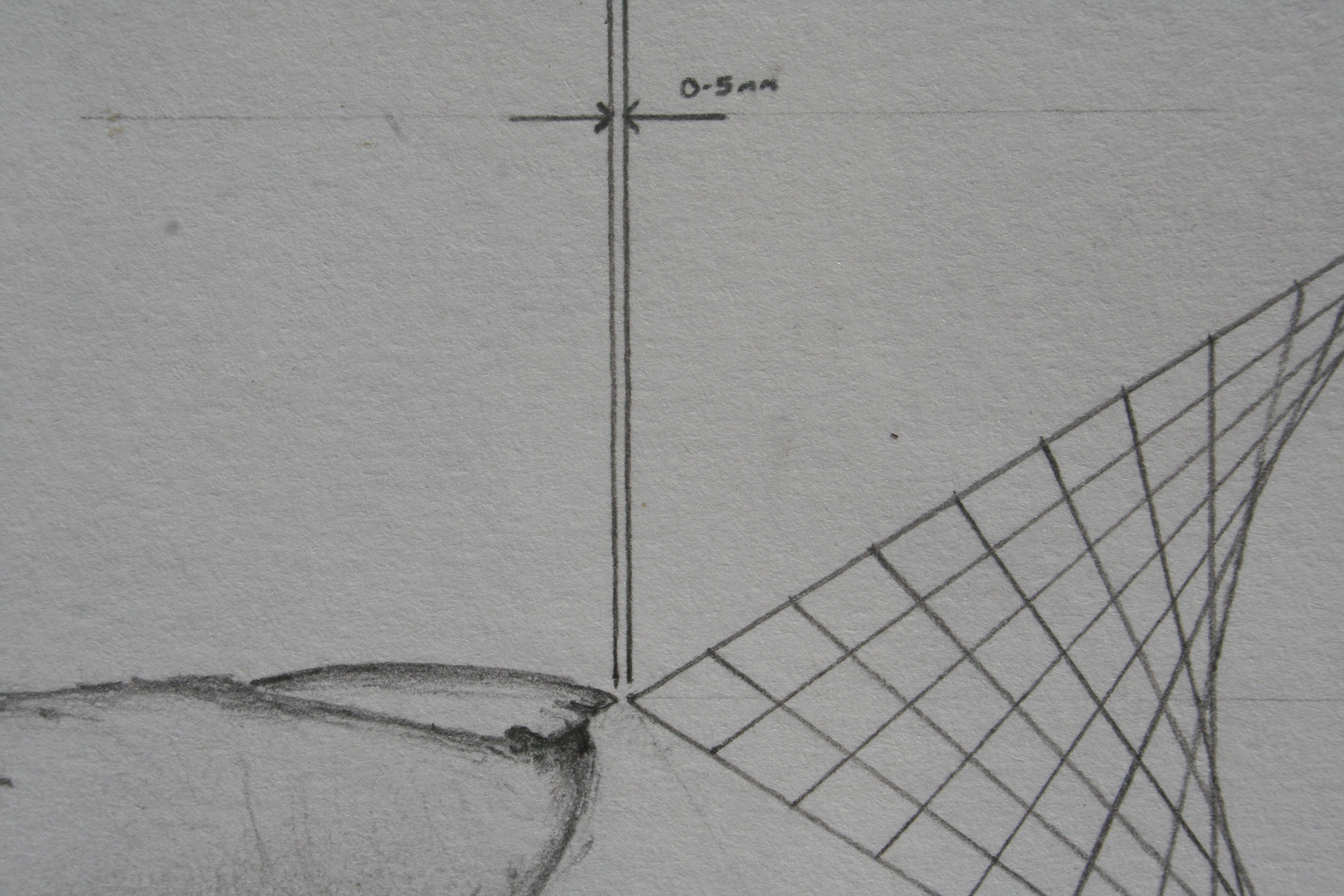 distance finder - 2008 - pencil on paper