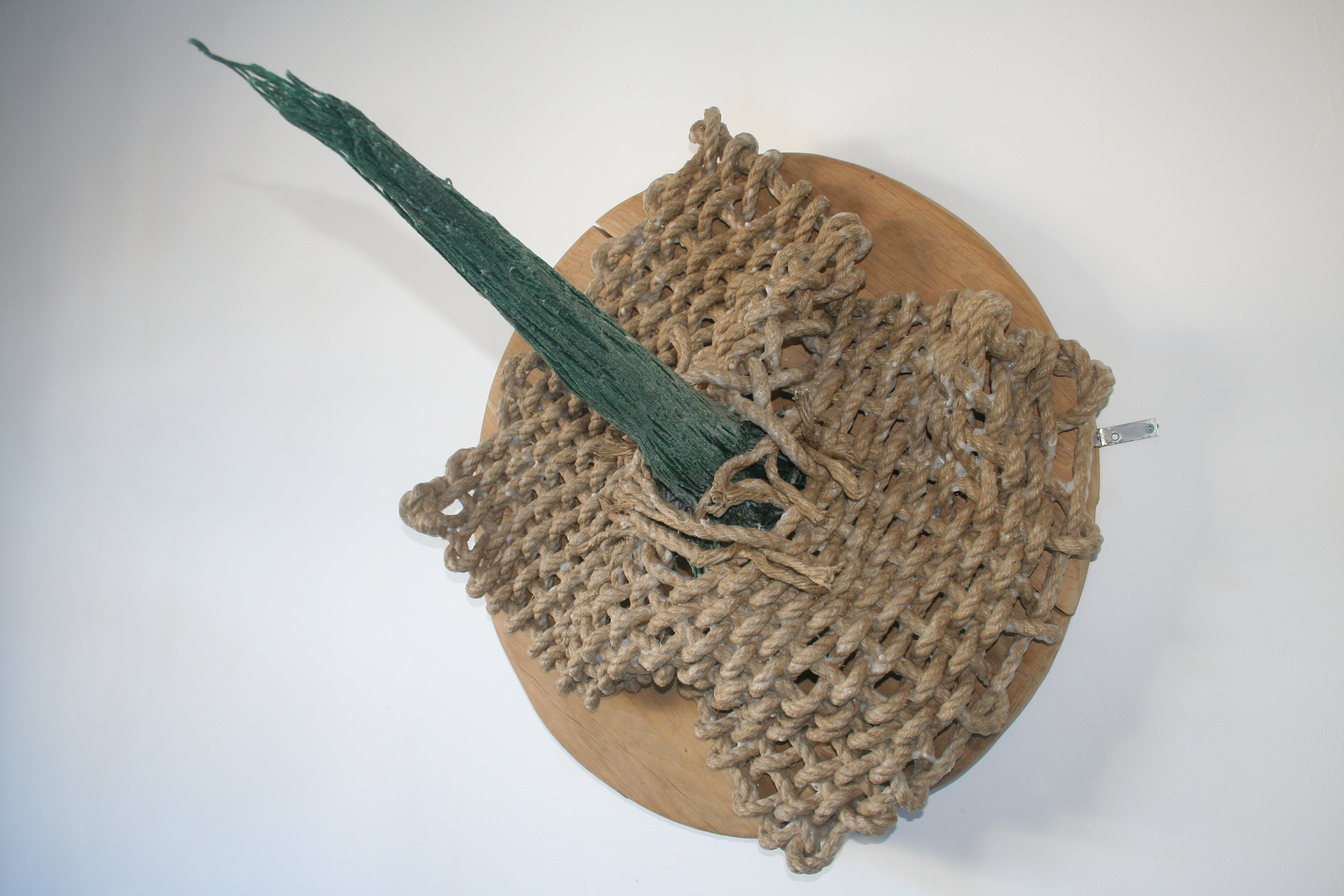 tear - 2011 - hemp rope; wood; cotton