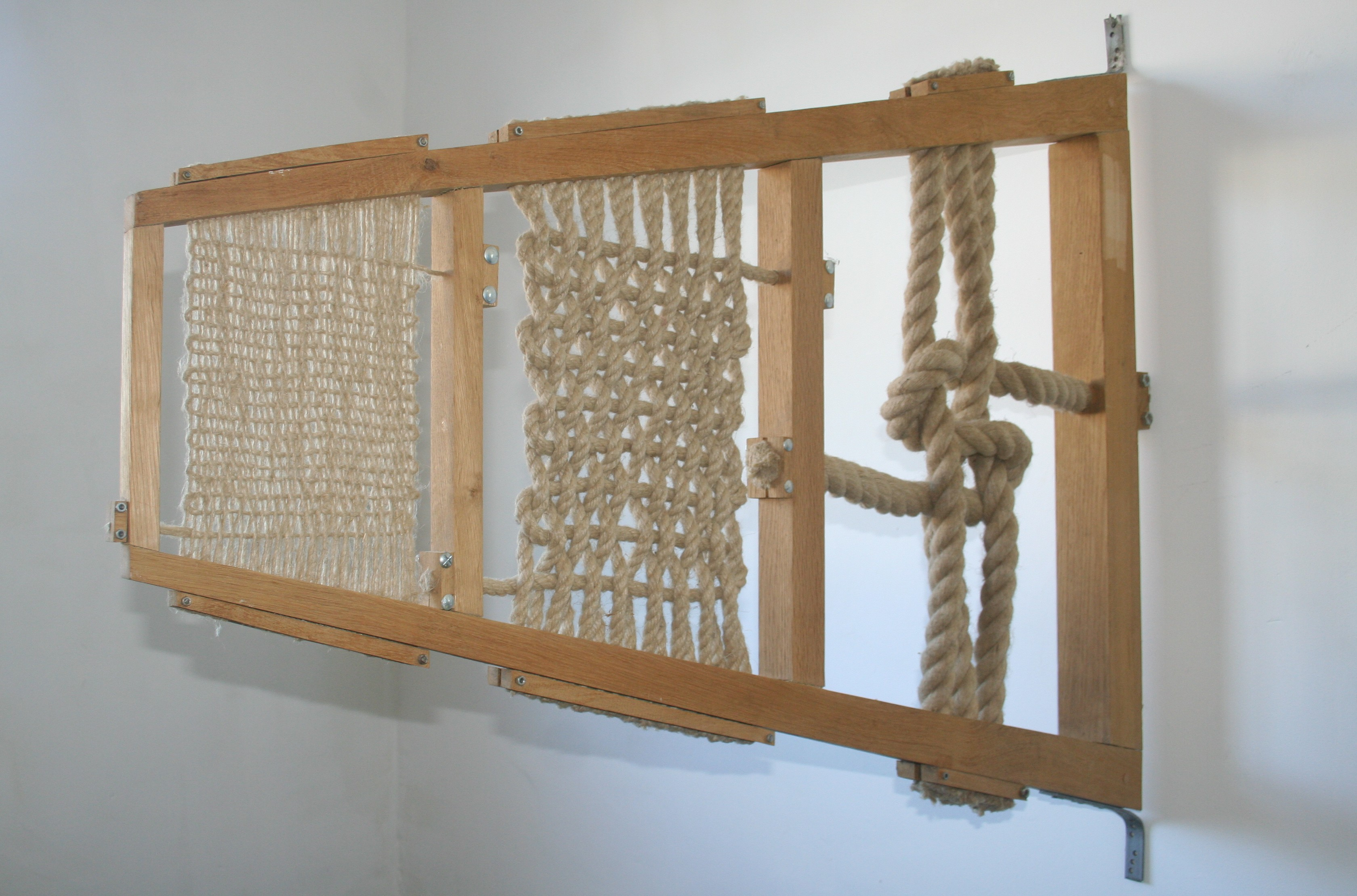 cloths - 2011 - hemp rope; wood