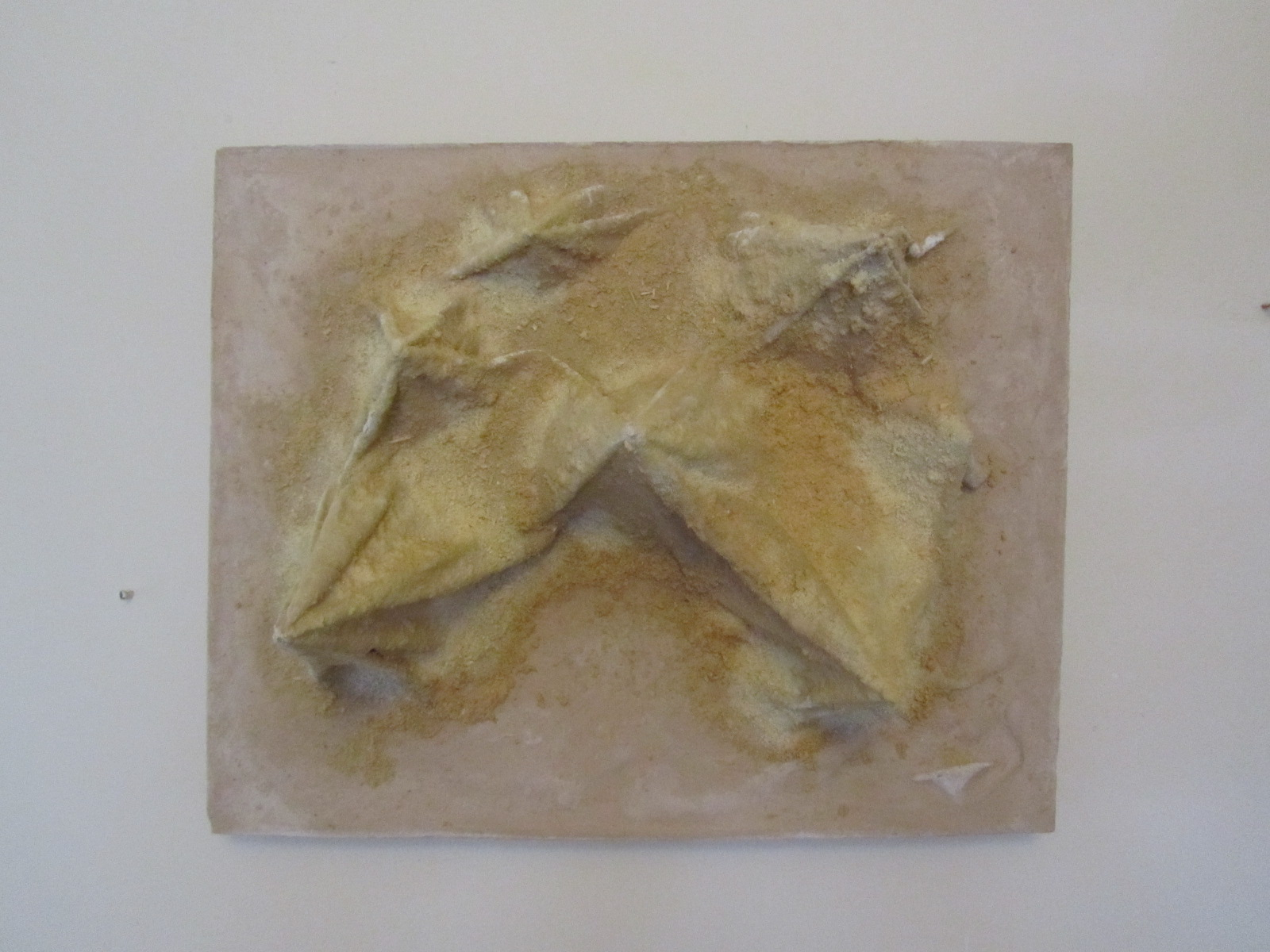 peaks and troughs - 2013 - plaster; cotton; wood