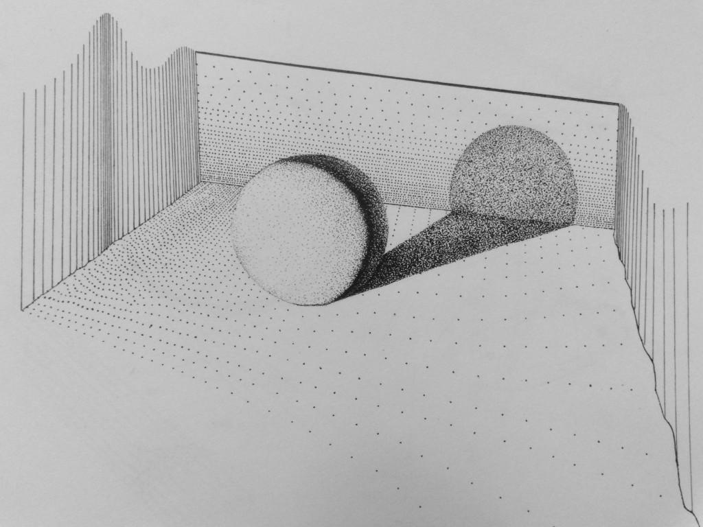 cast shadow - pen - 2014